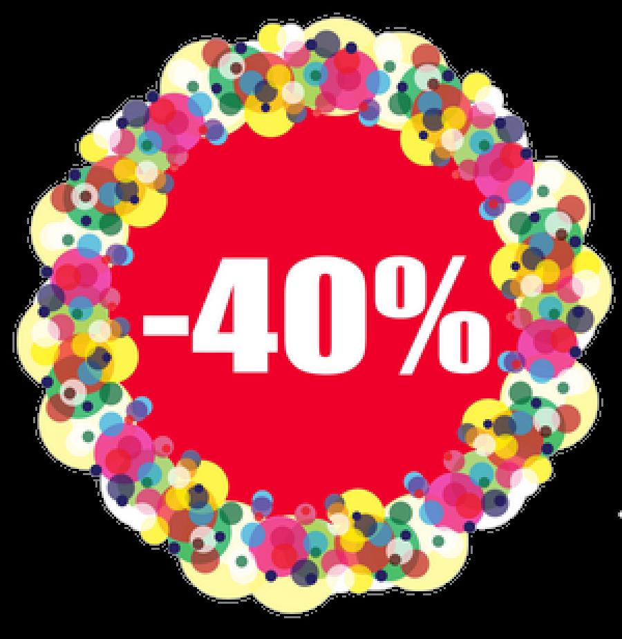 Знижка 40% на перший кредит